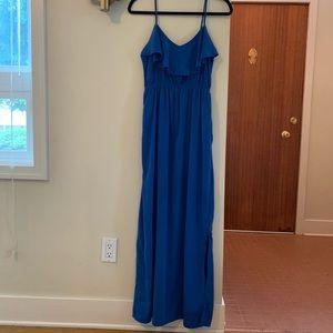 Soprano Ruffle Front Maxi Dress | Size M